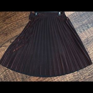 Gorgeous Metallic pleated skirt.